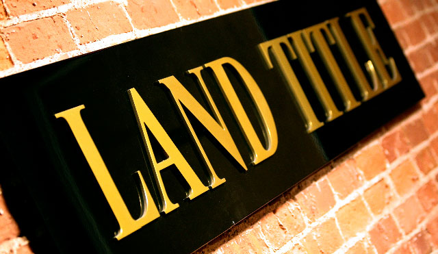 image of a Land Title sign